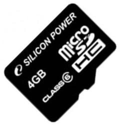 Silicon Power microSDHC 4GB Class 6 SP004GBSTH006V10