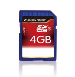 Silicon Power SDHC 4GB Class 4 SP004GBSDH004V10