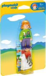 Playmobil 1.2.3. Lány macskával (6975)