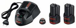 Bosch 2 x GBA 10.8V 2.0Ah O-B+AL 1130 CV (1600A002X1)