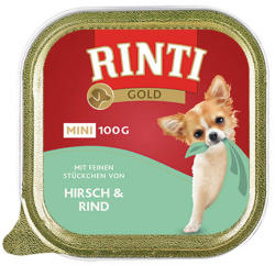 RINTI Gold Mini - Deer & Beef 6x100g