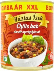 Házias Ízek Chilis bab darált marhahússal (800g)