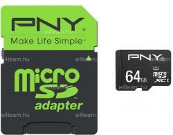 PNY MicroSDXC 64GB Class 10 USH-I SDU64G10HIGPER80-EF