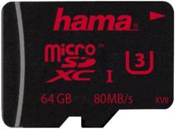 Hama microSDXC 64GB Class 3 123985
