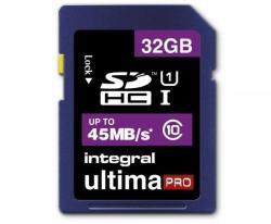 Integral SDHC Pro Ultima 32GB Class 10 INSDH32G10-45