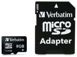 Verbatim MicroSDHC 8GB Class 4 43967