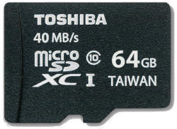 Toshiba MicroSDXC 64GB Class 10 SD-C064UHS1(6A