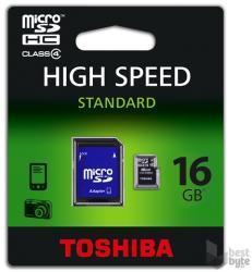 Toshiba MicroSDHC 16GB Class 4 SD-C16GJBL5A