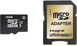 Integral Micro SDHC 16GB Class 10 INMSDH16G10-95/90U1
