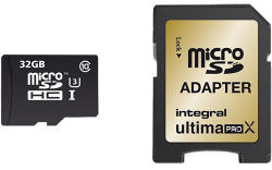 Integral Micro SDHC 32GB Class 10 INMSDH32G10-95/90U1