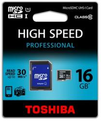 Toshiba MicroSDHC 16GB Class 10 SD-C016UHS1(6A