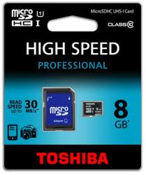 Toshiba MicroSDHC 8GB Class 10 SD-C008UHS1(6A