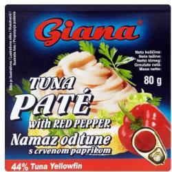 Giana Tonhal pástétom piros kaliforniai paprikával (80g)