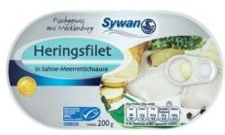 Sywan Heringfilé tejszínes-tormás szószban (200g)