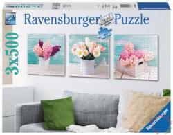 Ravensburger Színes virágos üdvözlet 3x500 db-os (19922)