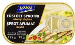 LOSOS Füstölt sprotni növényi olajban (125g)
