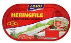 LOSOS Heringfilé paradicsomos szószban (175g)
