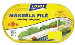 LOSOS Makrélafilé növényi olajban (170g)