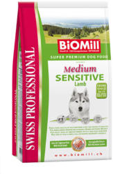 Biomill Swiss Professional Medium Sensitive lamb & rice 12kg