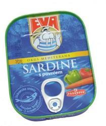 EVA Szardínia zöldséges paradicsomos mártásban (115g)