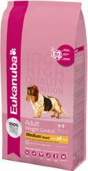 Eukanuba Adult Weight Control Medium Breed 2x15kg