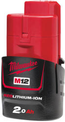 Milwaukee M12 B2 12V 2.0Ah Li-Ion (4932430064)
