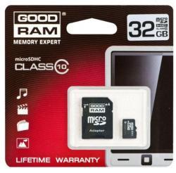 GOODRAM MicroSDHC 32GB Class 10 SDU32GHCUHS1AGRR10