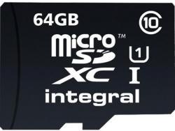 Integral MicroSDXC 64GB Class 10 INMSDX64G10-40U1