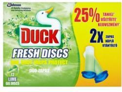 DUCK Fresh Discs Lime WC-öblítő korong utántöltő 2x36ml