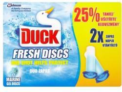 DUCK Fresh Discs Marine WC-öblítő korong utántöltő 2x36ml