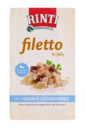 RINTI Filetto - Chicken & Chicken Heart in Jelly 125g