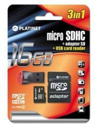 Platinet MicroSDHC 16GB PMMSD16CR