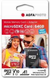 AgfaPhoto microSDXC 64GB Class 10 10582