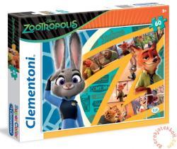 Clementoni Zootropolis: Állati nagy balhé 60 db-os (26959)