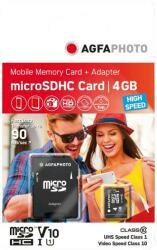 AgfaPhoto MicroSDHC 4GB Class 10 10579
