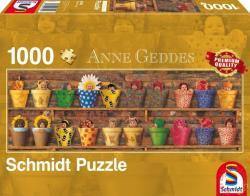 Schmidt Spiele Panoráma puzzle -Anne Geddes: Tavaszi ébredés 1000 db-os (59359)
