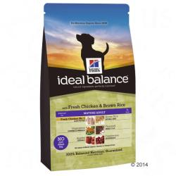 Hill's Ideal Balance Mature Adult - Chicken & Rice 2x12kg