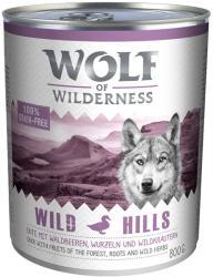 Wolf of Wilderness Wild Hills 6x800g