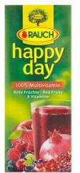 Rauch Happy Day Red Multivitamin 100%-os gyümölcslé 0,2L