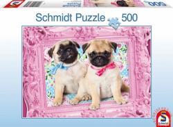Schmidt Spiele Pug & Puglet 500 db-os (57358)