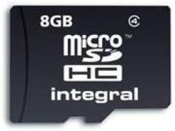 Integral MicroSDHC 8GB Class 4 INMSDH8G4V2