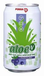 POKKA Aloe vera ital áfonyával 0,3L