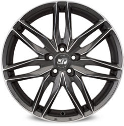 MSW 24 Matt Gun Metal Full Polished CB70.2 5/115 16x7.5 ET32