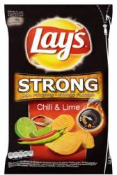 Lay's Strong chili és lime ízű chips 150g