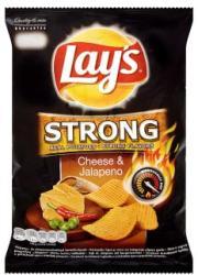 Lay's Strong sajt és jalapeno ízű chips 77g