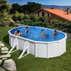 Pontaqua Fémfalas, családi medence 610x375x132cm (FFA762)