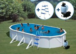 Pontaqua Fémfalas, családi medence szett 730x375x120cm (FFA407)
