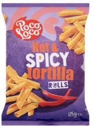 Poco Loco Tortilla Rolls pikáns kukoricachips 125g