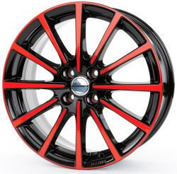 Borbet BL4 black red glossy 4/100 17x7 ET40