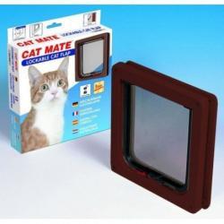 Cat Mate 304B 2 utas Zárható Macskaajtó-Barna